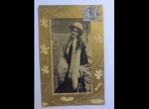 """Frauen, Männer, Mode, Hutmode, Stola"" 1906 ♥"