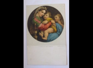 """Religion, Heilige, La Madonna della Seggiola"" 1912 ♥"