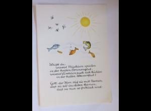 """""""Religion, Weißt du, wie viel Mücklein spielen, Sonne"""" 1950 ♥"""