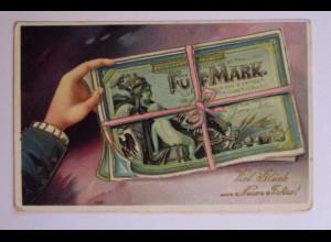 Neujahr, Geldschein, 1911 ♥ (38899)