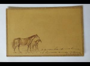 """""""Pferde"""" 1901, Prägekarte ♥ (34732)"""