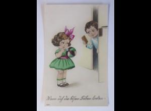 Geburtstag, Kinder, Ball, Schokolade, 1924 ♥ (45153)