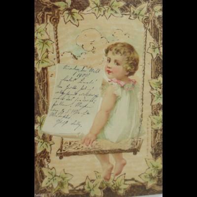 Kinder, Mode, Schaukel, Blatt Papier, 1900 ♥ (881)