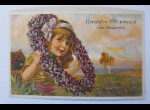 Geburtstag, Kinder, Mode, Blumenkranz, 1930, Maximilian K. ♥ (53041)
