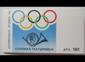 Griechenland, Markenheftchen Olympia 1984 postfrisch