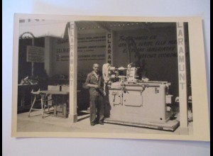Berufe, Mann, Arbeiter, Maschine, Claramunt, Fotokarte ca. 1930