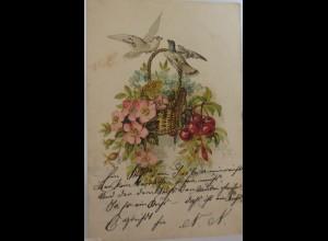 """""""Vogel, Taube, Blumen"""" 1900 ♥ (2918)"""