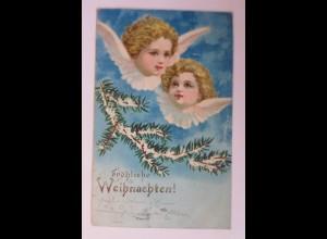 Weihnachten, Engel, Tannenzweig, 1905 ♥