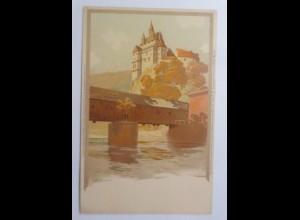 Burg Kriebstein, Sachsen, 1900, Meissner & Buch ♥ (69698)