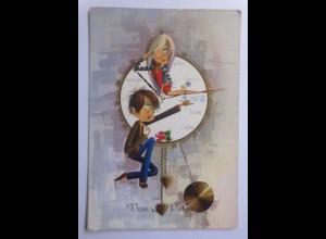 Kinder, Mode, Uhr, Valentinstag, 1960 ♥ (58643)