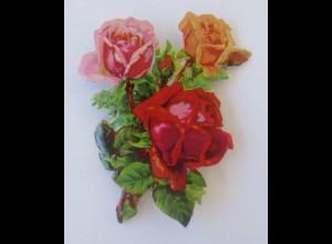 Oblaten, Rosen, Blumen, 6,5 cm x 5 cm ♥ (38832)