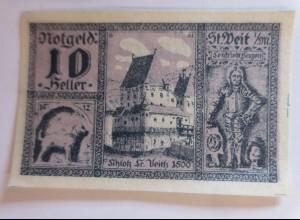 Notgeld, 10 Heller, Der Gemeine St. Veit in Heller Österreich 1920 ♥ (36415)