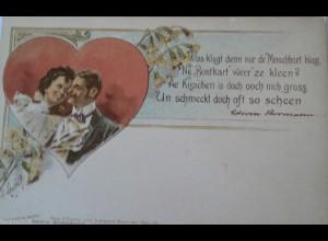 Valentinstag, Männer, Frauen, Herz, 1900, Edwin Bormann ♥ (18536)