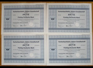Kerkerbachbahn, 4 Aktien 50 DM Dezember 1981 ..