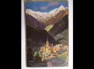 Italien Südtirol, Pieve di Livinallongo Marmolata 1913 sign. Höger