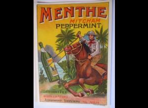Wild West, Cowboy, Werbung Menthe Mitcham Pepermint 11 x 15 cm