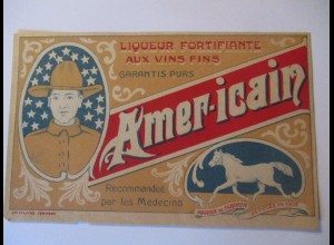 Wild West, Soldat, Werbung Americain Medicins 9 x 14 cm