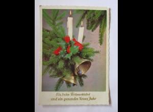 Weihnachten, Kerze, Glocken, 1968 ♥ (50764)