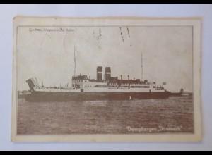 Schiffe, Dampfer, Gjedser , Warnemünde Ruten, Dänemark, 1928 ♥