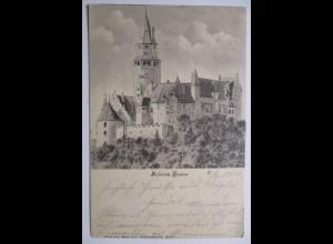 Tschechien, Busau, Schloß, Bahnpost 1902
