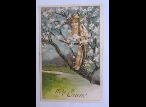 Pfingsten, Kinder, Mode, Kirschbaum, 1903, Golddruck ♥ (41981)