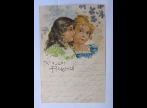 Pfingsten, Kinder, Mode, 1904 ♥ (43423)