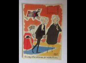 Katzen, Scherzkarten, Karikatur, Humor, Katzen, 1950 ♥ (10194)