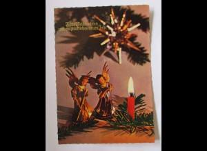 Weihnachten, Kerzen, Engel, 1961 ♥ (50767)