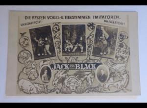 Zirkus, Jack & Black, Vogel und Tierstimmen Imitatoren, 1910 ♥ (43605)