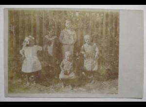 Siersleben (Gerbstedt) Kinder, Fotokarte, 1913 ♥ (37322)