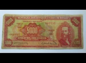 Geldschein, 5000 Cruzeiros Cinco Mil Cruzeiros ♥