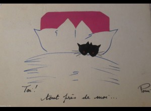 """Neujahr, Kissen, Bett"" 1956 ♥"