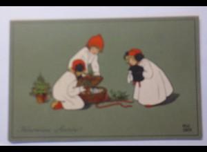 """""""Neujahr, Kinder, Mode, Muff, Misteln, Schwein"""" 1912 ♥ (45423)"""