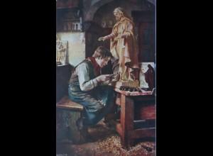 Bildhauer, Holzschnitzer, Reklame Schlafzimmer Möbel-Haus Wien (23418)