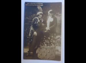 Zirkus, Pepi Ganzer & Gusti, Der Mann in der Hutschachtel, 1910 ♥ (43596)