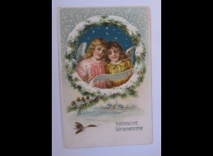 Weihnachten, Engel, Kerze, Singen, Vogel, 1907 ♥ (67156)
