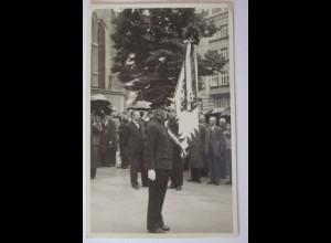 Österreich, Wien, Versammlung, Fahne, Fotokarte