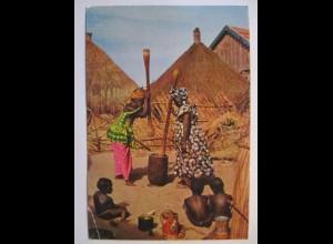 Elfenbeinküste, Dorfszene 1967 nach Deutschland