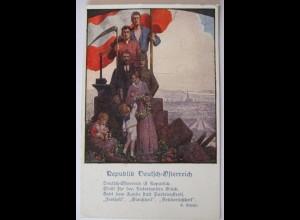 Österreich, Deutschösterreich, Freiheit Gleichheit Brüderlichkeit (23522)