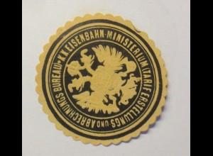 Vignetten, Verschlußmarken, Eisenbahn Ministerium ♥ (11720)