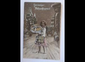 Weihnachten, Kinder, Geschenke, Horn, 1913 ♥ (67157)