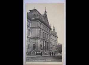 Österreich Wien, Justizpalast vor dem Brand, Iris-Bromin-Karte (13567)