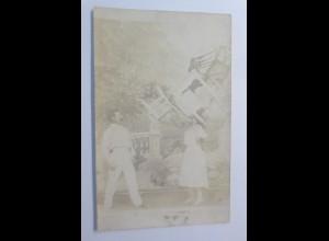 Zirkus, Foto, Artisten, Stühle, 1906 ♥