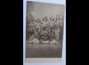 Zirkus, Kinder, Artisten, 1908 ♥