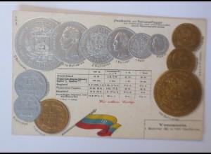 Münzen, Venezuela, 1900, Prägekarte ♥ (66731)