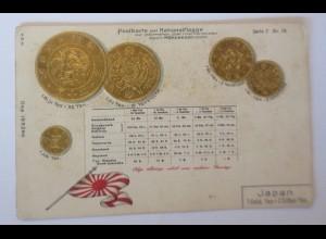 Münzen, Japan, 1900, Prägekarte ♥ (66737)