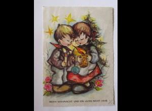 Weihnachten, Kinder, Kerze, Sterne, 1975 ♥ (50763)