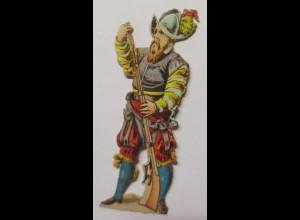 """""""Spanischer Soldat"""" Alte Oblaten, Jahr 1900, 7 cm x 2 cm ♥ (42671)"""