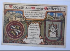 Notgeld des Maktes Schliersee, 25 Pf, 15 Juni 1921 ♥ (66295)