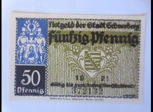 Notgeld der Stadt Schneeberg 50 Pf, Schneeberg 1921 ♥